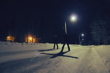 when we were hunting for northern lights...