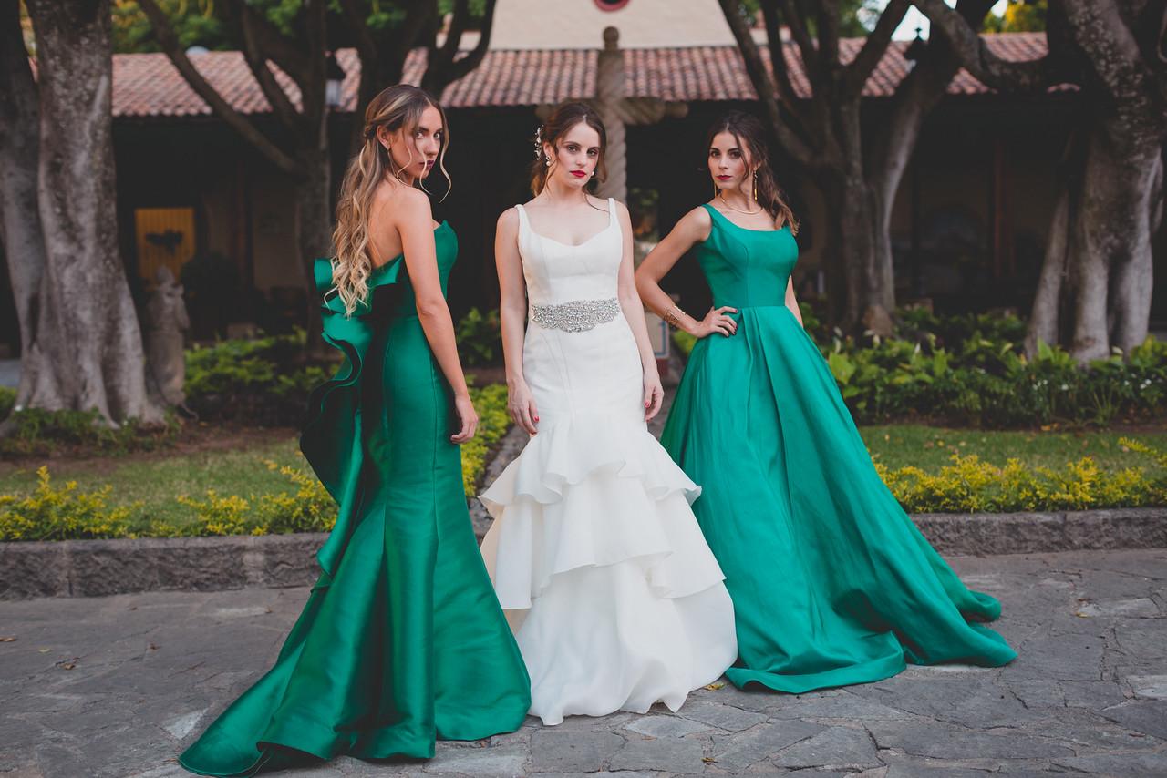 Damas de honor verde jade, Especial tendencias 2017