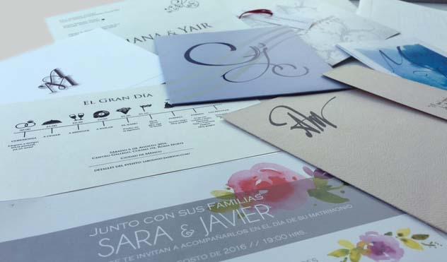 Invitaciones para boda en México A3 Identidad Gráfica