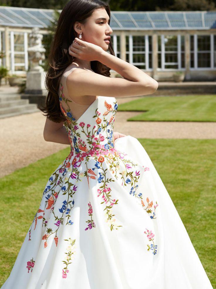 vestidos de novia con flores bordadas – vestidos baratos
