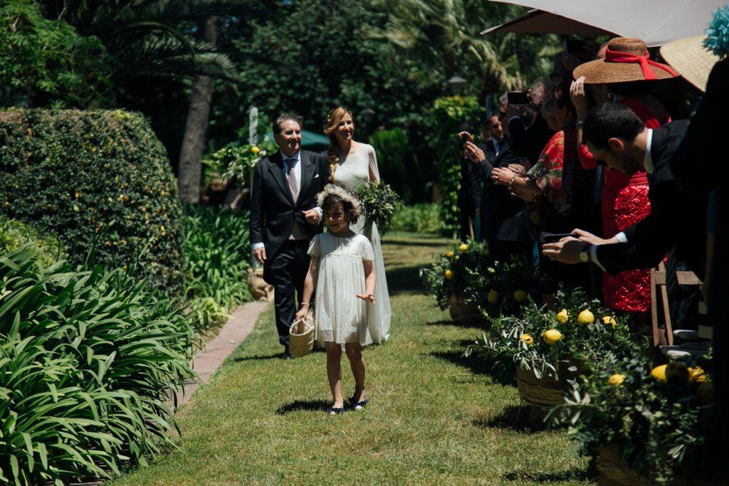 Pajes en una boda con estilo bohemio