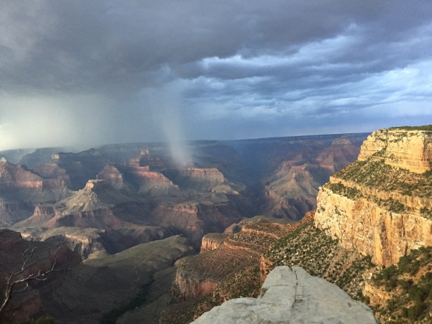 Rainstorm over the Grand Canyon