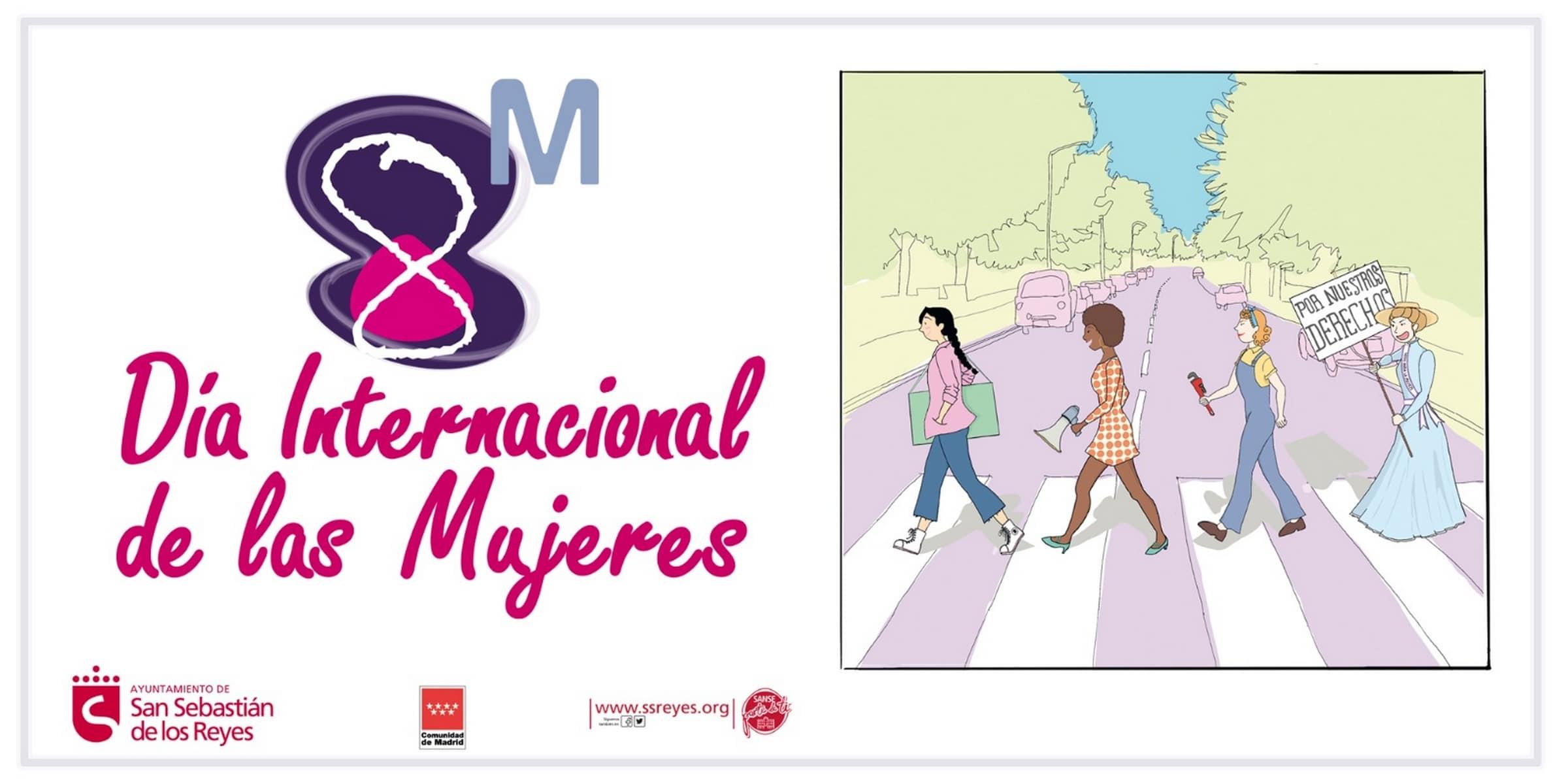 Cartel del Dia Internacional de la Mujer en Sanse.
