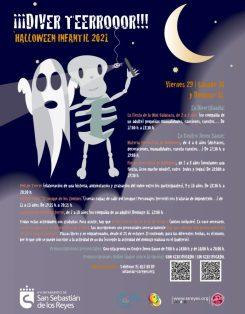 Cartel de halloween infantil 2021.