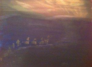 Rois Mages, huile sur toile, 25x30 cm, GLSG, Mai 2011