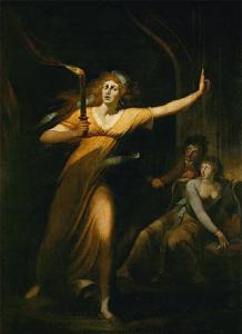 Lady Macbeth somnambule par Johann Heinrich Füssli, vers 1784, Musée du Louvre