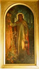 fig.1 William Holman Hunt (1827-1910) La Lumière du Monde (The Light of the World) 1854, Chapelle de Keble College (Oxford), huile sur toile