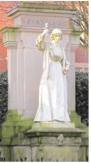 Feodora Gleichen (1861-1922) Statue de Florence Nightingale 1914, London Road (Derby), marbre