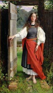 George Dunlop Leslie (1835-1921), La Foi (Faith) 1858, Ferens Art Gallery (Yorkshire), huile sur toile