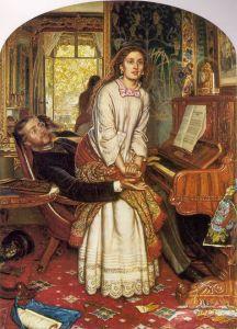 William Holman Hunt (1827‑1910) L'éveil de la conscience (The Awakening Conscience), 1853, Tate Gallery, huile sur toile