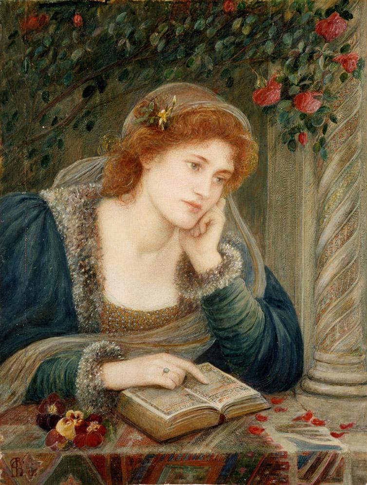 Marie Spartali Stillman (1844-1927), Béatrice, Delaware Art Museum, gouache