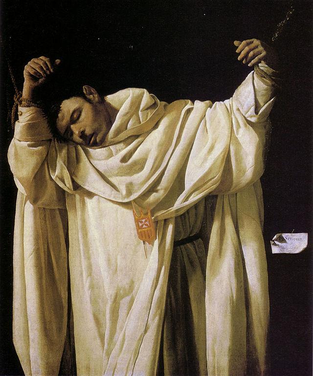 Saint Sérapion, Francisco de Zurbaran, 1628, huile sur toile, Wadsworth Atheneum, Hartford.