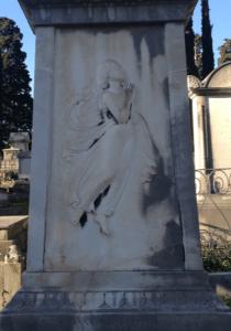 Tombe sculptée d'Anna Maria Cecilia