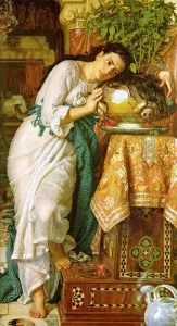 William Holman Hunt, Isabella and the pot of basil, 1868, Laing Art Gallery (Newcastle upon Tyne) 187 cm × 116 cm