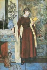 A la Maison (At Home) Walter Crane, 1872, Leeds Museum and Galleries, huile sur bois