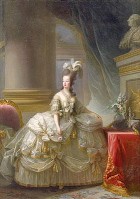 E. Vigée Lebrun, Marie-Antoinette en grand habit de cour, 1778, huile sur toile, 273x193.5 cm, ©Kunsthistorisches Museum, Vienne