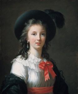 """Elisabeth Vigée Lebrun, Autoportrait dit """"aux rubans cerise"""", vers 1782, huile sur toile, 64.8x54cm, ©Forth Worth, Kimbell Art Museum"""