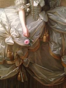 E. Vigée Lebrun, Marie-Antoinette en grand habit de cour (détail) 1778, huile sur toile, 273x193.5 cm, ©Kunsthistorisches Museum, Vienne