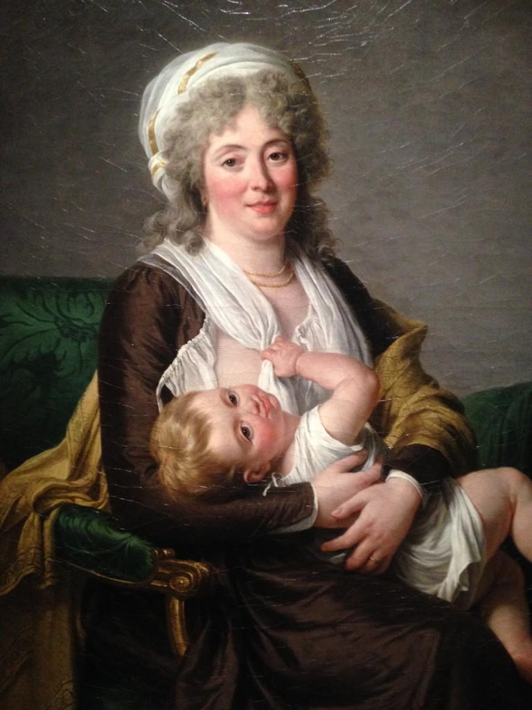Adélaïde Labille-Guiard, Portrait présumé de Madame Claude Charlot et son fils Nicolas-François ou de Madame Nicolas-François Charlot et son fils Vincent, 1799, huile sur toile, 118x90 cm, collection particulière