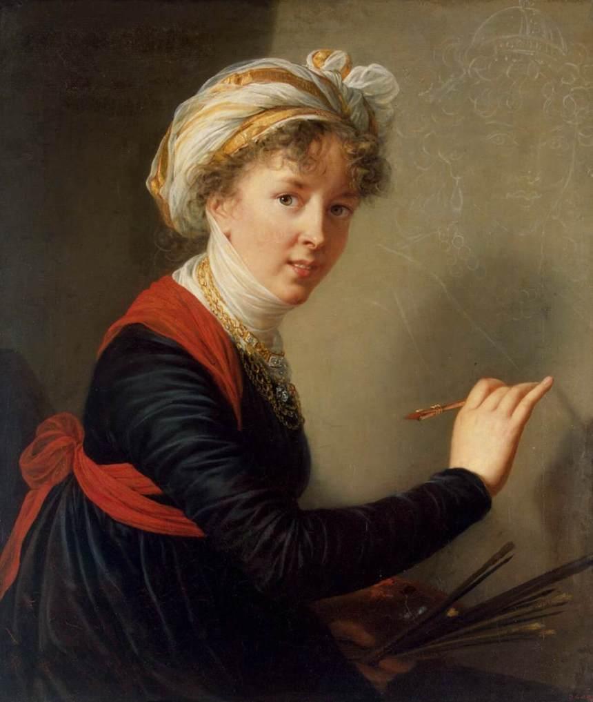 EVL, Portrait par elle-même, 1800, huile sur toile, 78.5x68cm ©Saint-Pétersbourg, musée de l'Ermitage