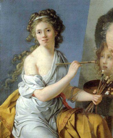 Marie Guillemine Le Roulx de La Ville, plus tard comtesse Benoist (1768-1826) Portrait par elle-même, 1786, huile sur toile, 92x75 cm, collection particulière