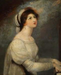 Richard Westall, Lady Hamilton en sainte Cécile, fin XVIIIème siècle, (c) National Maritime Museum