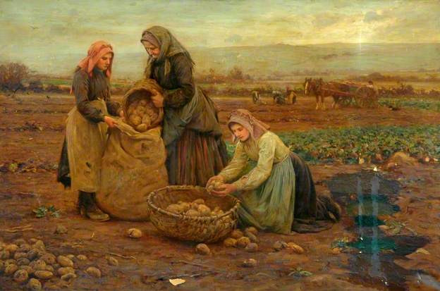 Ernest Higgins Rigg, Les Ramasseurs de pomme de terre (The Potato pickers) Bradford Museums and Galleries, huile sur toile, 122 x 184.5 cm, ©Bradford Museums and Galleries