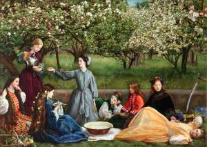 John Everett Millais (1829-1896) Spring (Apple Blossoms) 1859, huile sur toile ©Lady Lever Art Gallery, Liverpool