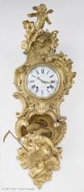 Charles Cressent (1685-1768) Cartel d'applique « L'amour vainqueur du temps », vers 1745, bronze doré, cuivre, écaille ©musée du Louvre, Paris
