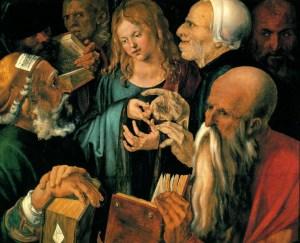 Albrecht Dürer , Le Christ parmi les docteurs, 1506 huile sur bois ©Madrid Musée Thyssen-Bornemisza Make Money Online : http://ow.ly/KNICZ