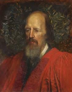 George Frederic Watts Watts, George Frederic, 1817-1904; Alfred Tennyson (1809-1892), 1st Baron Tennyson, Honorary Fellow (1869), Poet Laureate