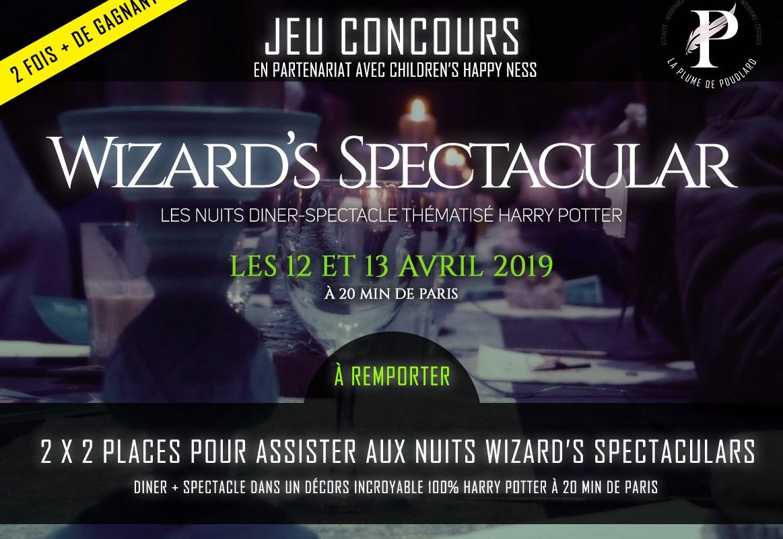 Jeu concours: remportez 2 x 2 places pour assister aux nuits diner-spectacle Wizard's Spectacular