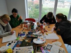 atelier écriture en groupe