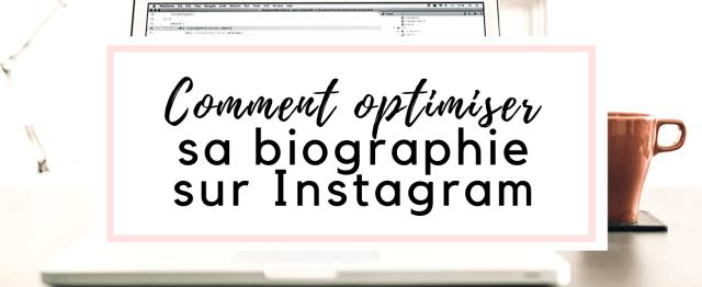Optimiser biographie Instagram