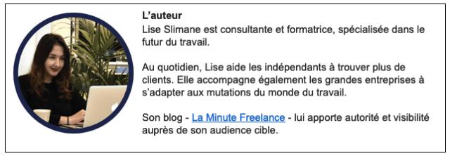 L'auteur Lise Slimane