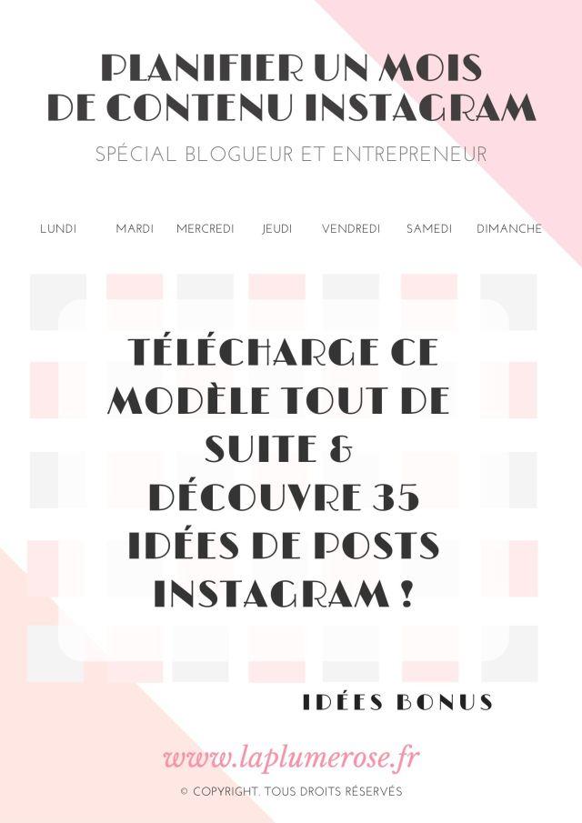 35 idées de publications Instagram