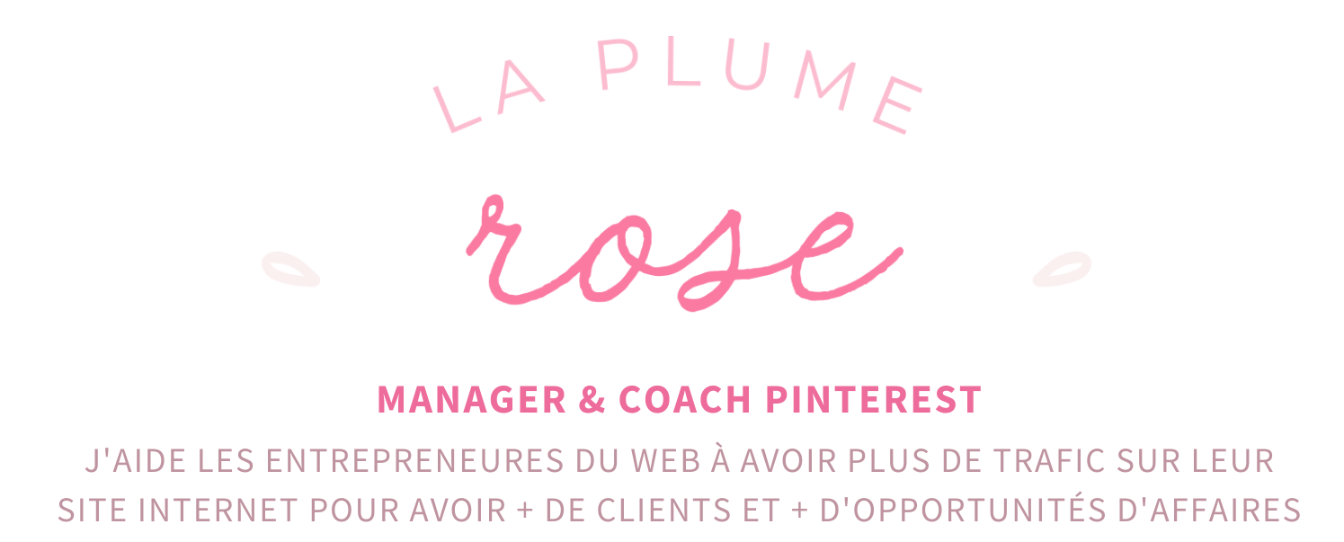 Logo blog La plume rose