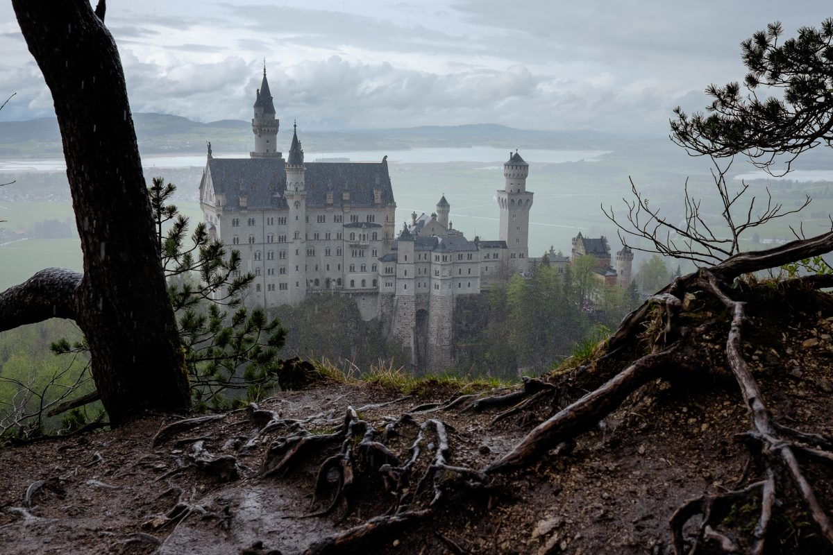 Neuschwanstein con la lluvia