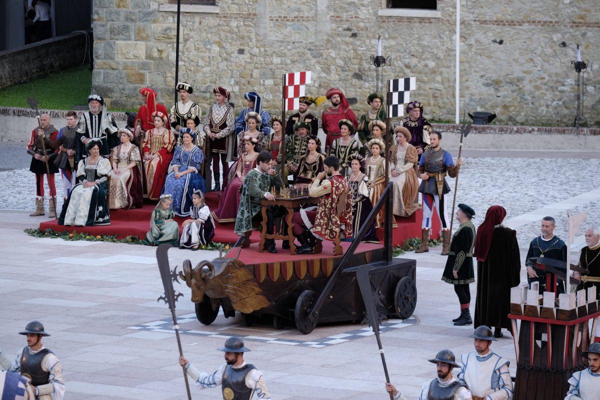 Partida de ajedrez, Marostica.