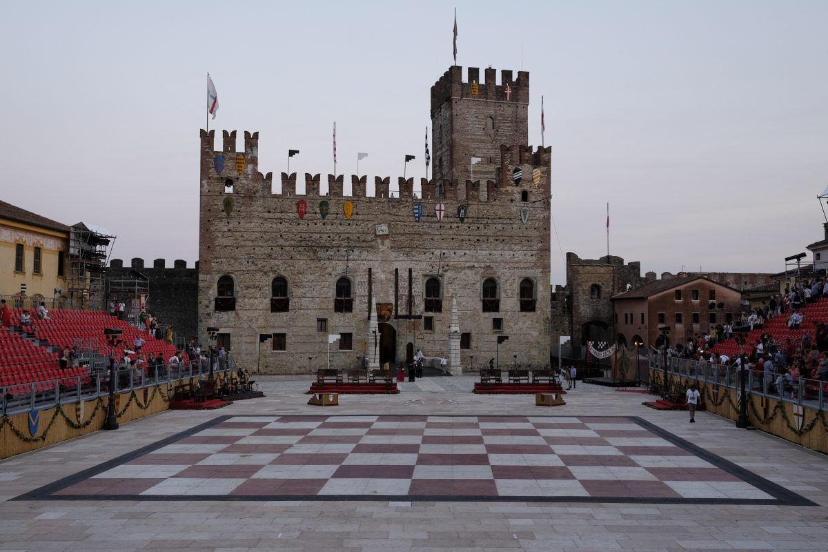 Marostica. Partida de ajedrez viviente.