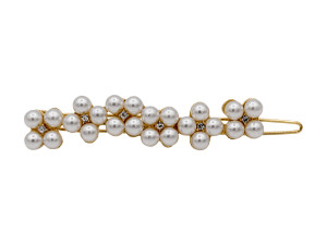 gold pearl slide barrette