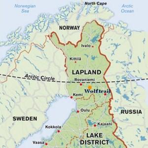 wolf trail en Laponie