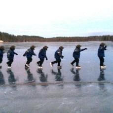 sur le lac...gelé!