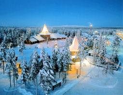 Village Du Pre Nol Laponie Finlande Dcembre 2018