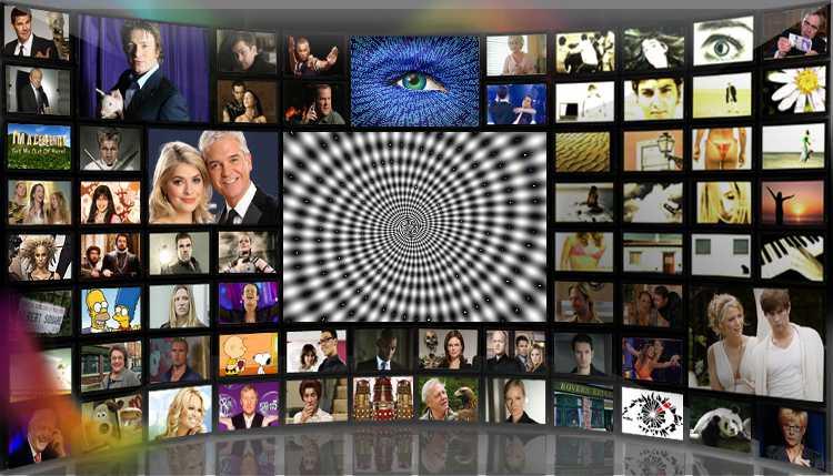 multitude de télés hypnotiques