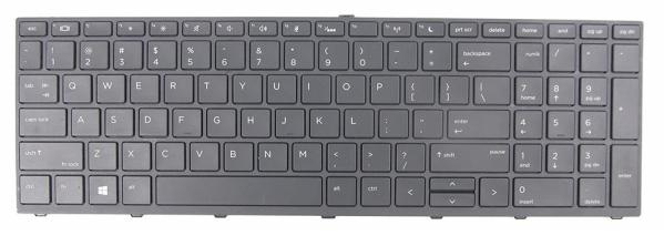 LAPTOP KEYBOARD FOR HP PROBOOK 470 G5 WITHOUT BACKLIT US VERSION BLACK.