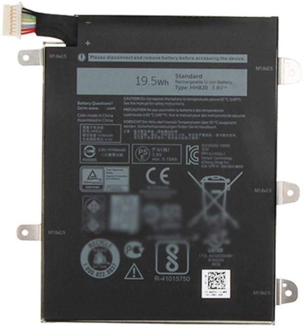 Battery For Dell Venue 8 Pro 5855 Series