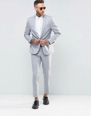 river-island-costume-ajuste-gris-clair