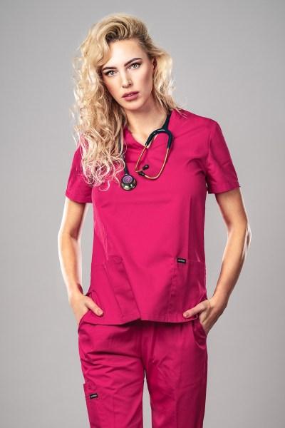 Pyjama medical Hot Pink Face 1+