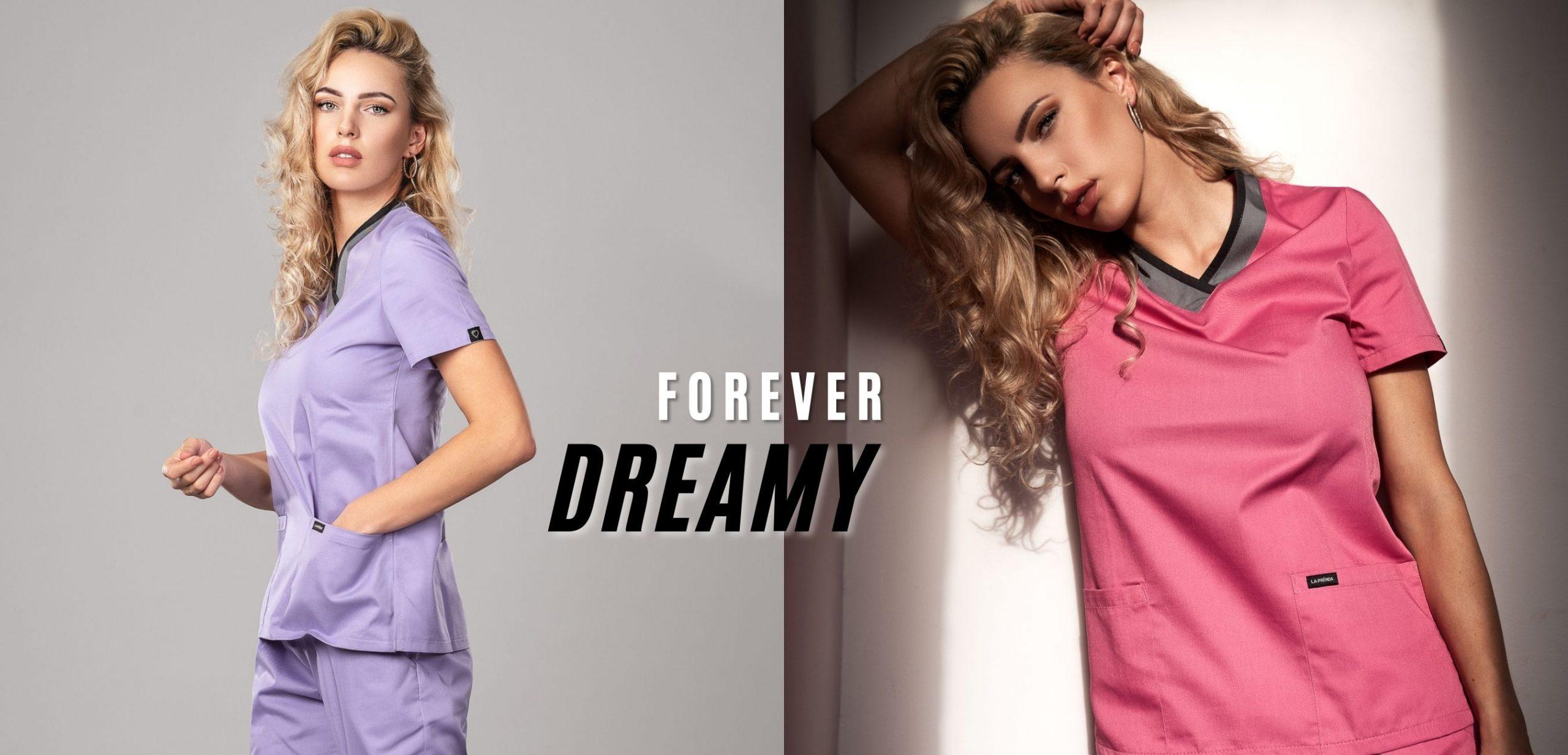 Pyjama medical Lilac & Sugar Candy Face / 3/4 Avant Gauche 1